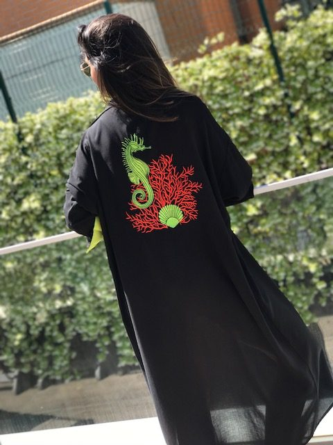 Look Project - Ocean Siyah Gömlek Elbise