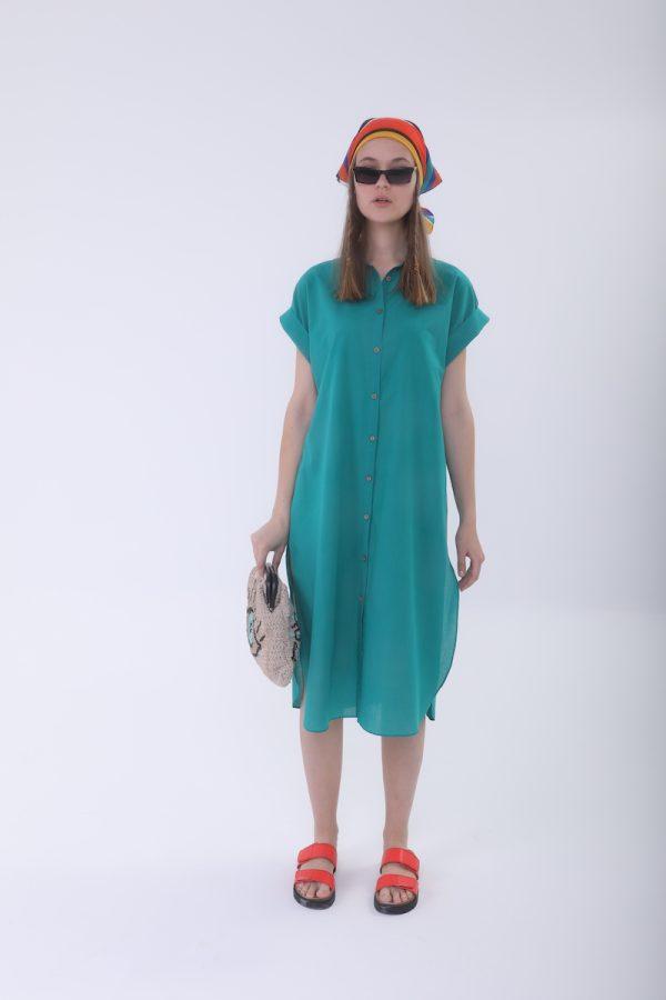 Look Project - Lobsy Mint Gömlek Elbise