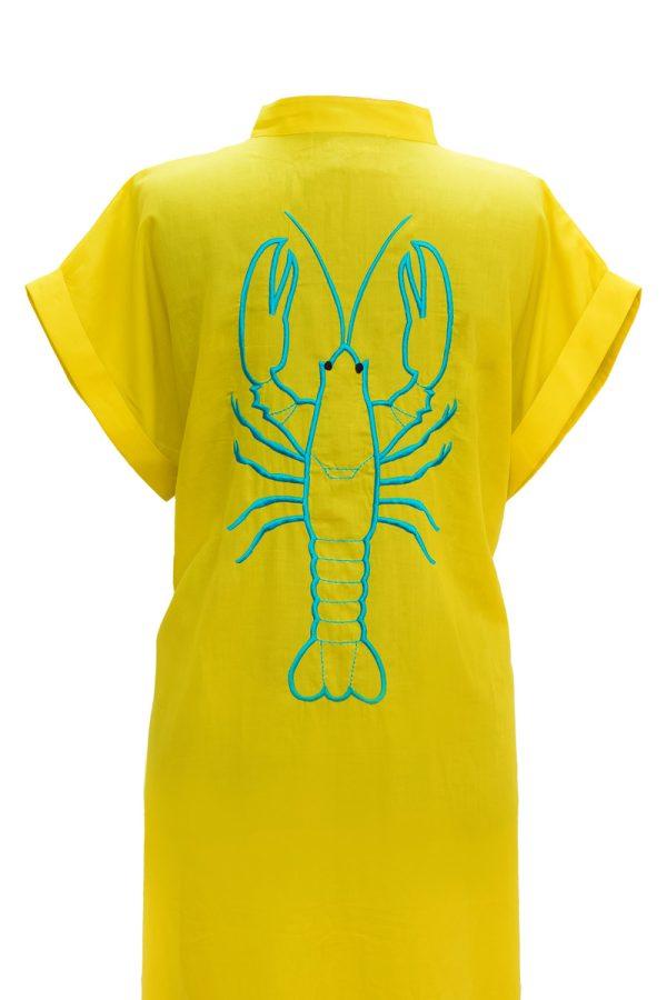 Look Project - Lobsy Sarı Gömlek Elbise