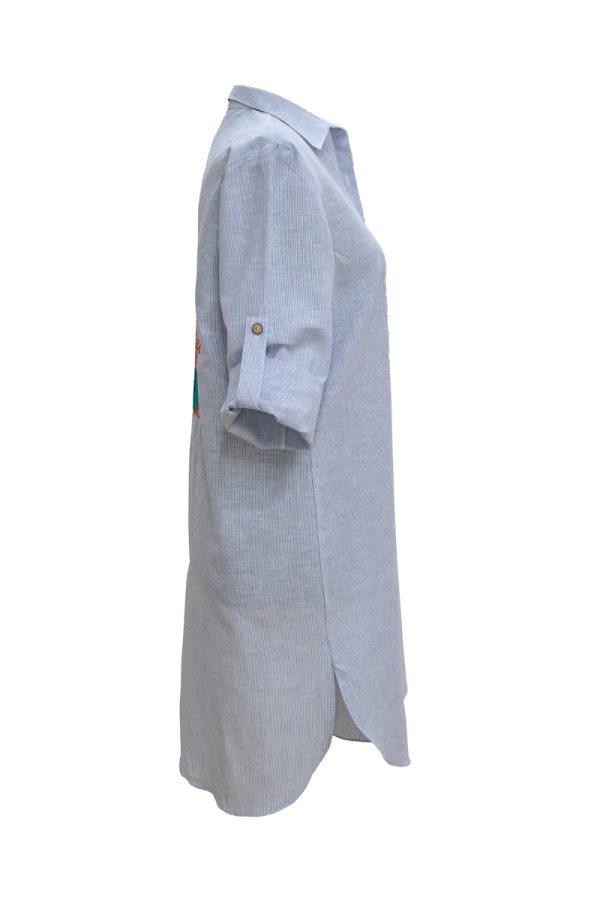 Look Project - Ocean Striped Gömlek Elbise