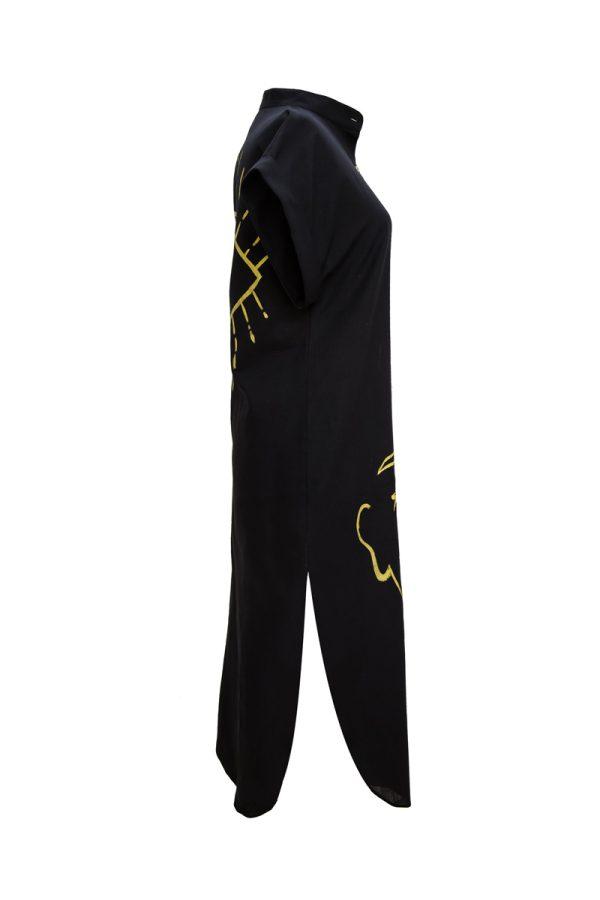 Look Project - Summer Look Siyah Gömlek Elbise