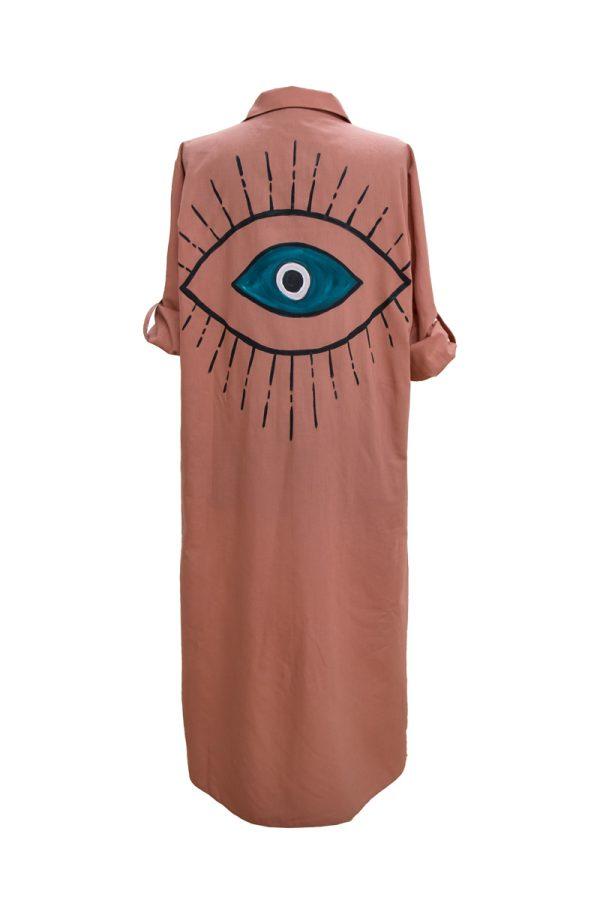 Look Project - Summer Look Tarçın Gömlek Elbise