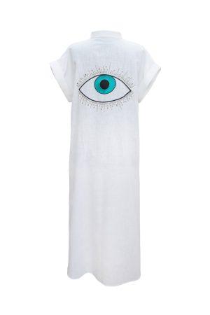 Look Project - Summer Look Beyaz Gömlek Elbise