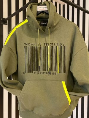 Lookproject - Barcode Hand Painted Hoodie