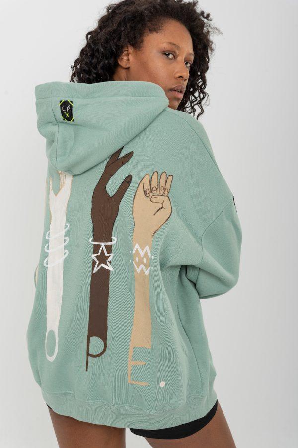 Look Project - Nope - Hand Painted Hoodie