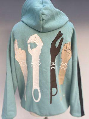 Lookproject - Nope Hand Painted Hoodie