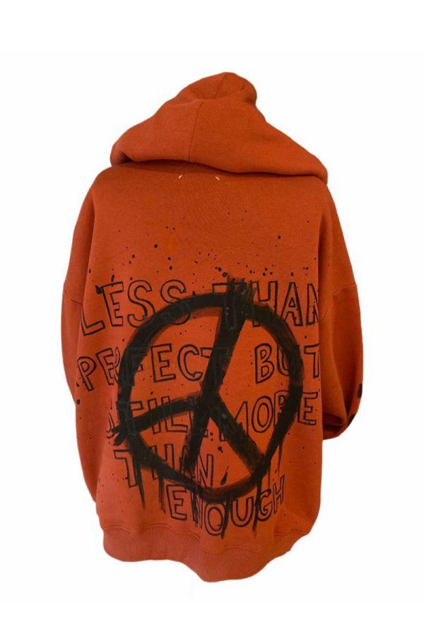 Lookproject - Peace - El Boyaması Hoodie