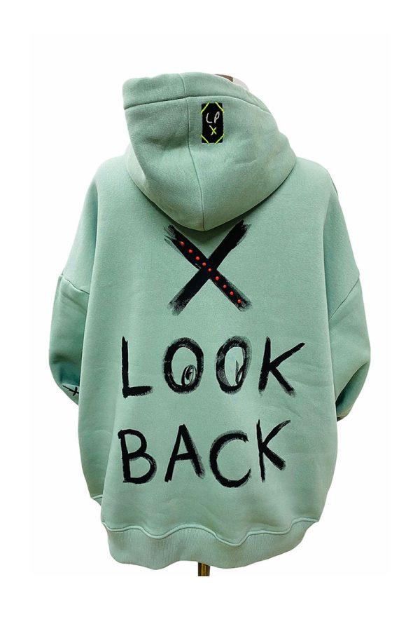 Lookproject - Don't Look Back - El Boyaması Hoodie