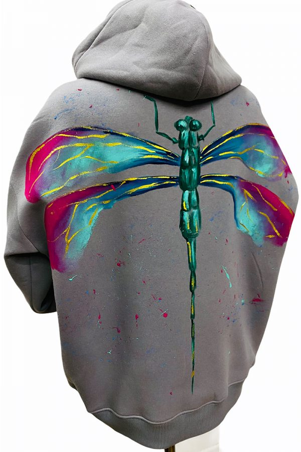 Lookproject - Dragon Fly - El Boyaması Hoodie