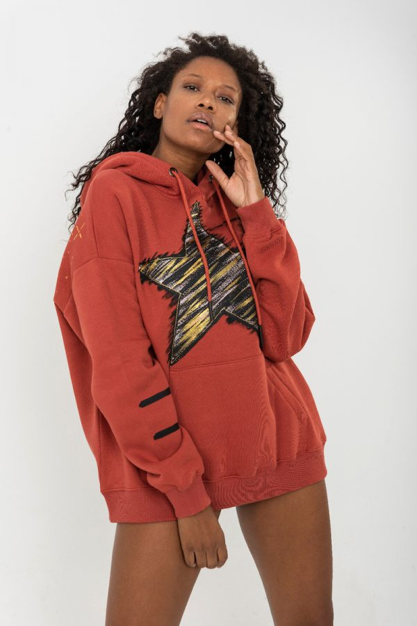 Look Project - Shine like a Star - Hand Painted Hoodie