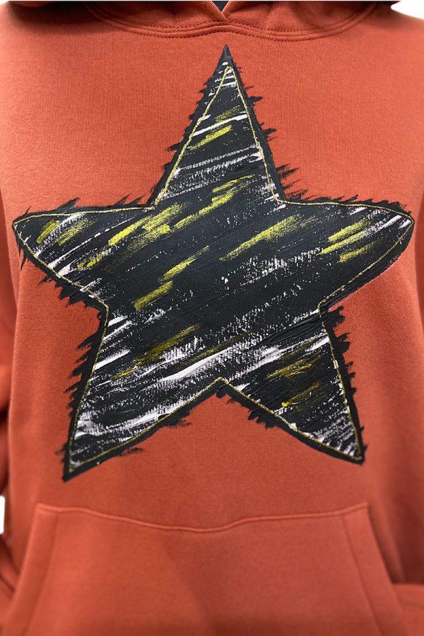 Lookproject - Shine Like a Star - El Boyaması Hoodie