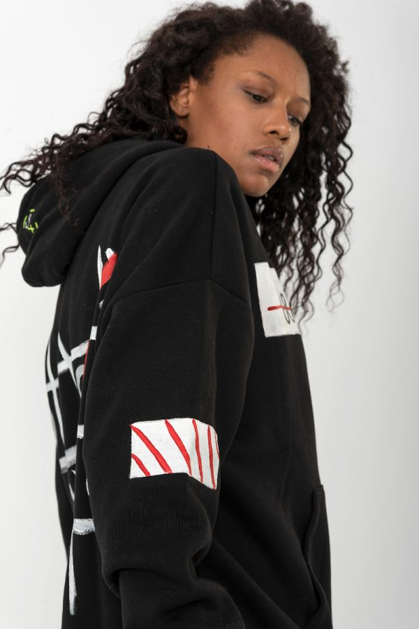 Look Project - Less is More - Hand Painted Hoodie