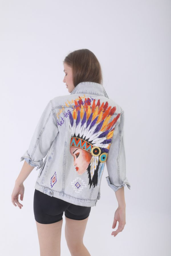 Look Project - Kızılderili Denim Ceket