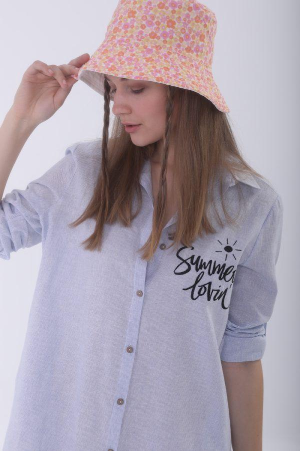 Look Project - Lobsy Stripe Gömlek Elbise