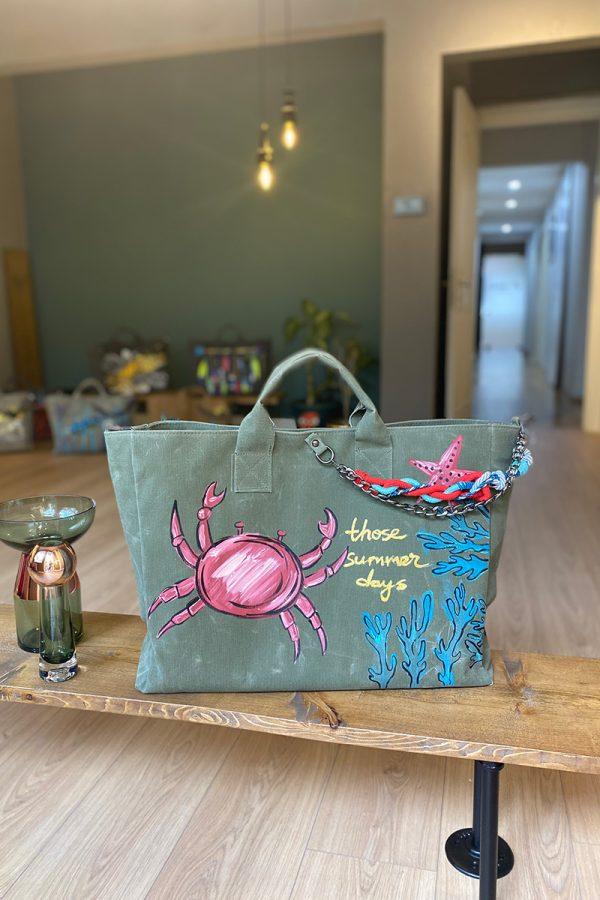 Look Project - Chole the Crab Haki Çanta