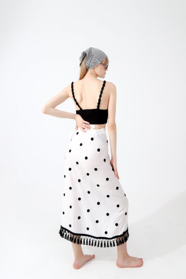 Look Project - Dot Wrap Skirt