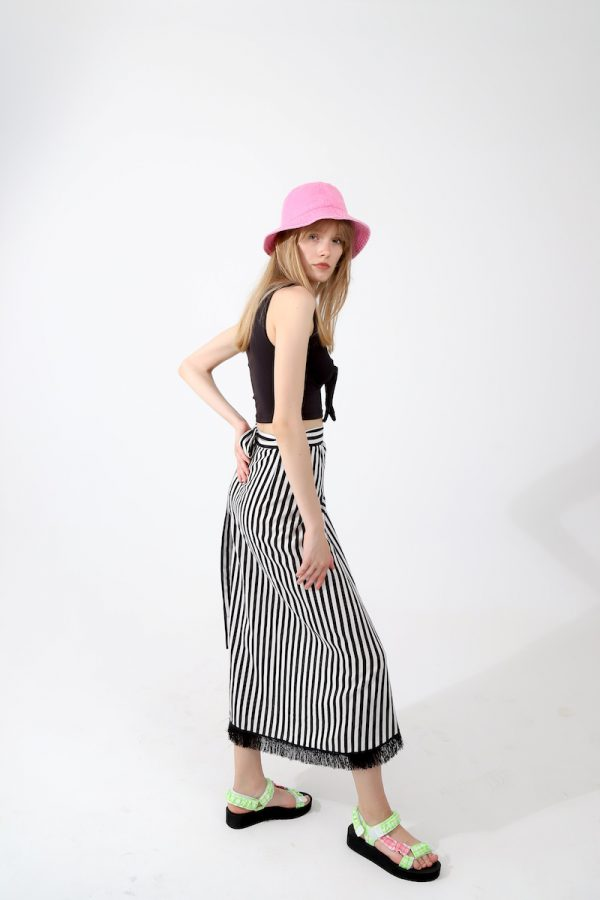 Look Project - Stripped Wrap Skirt