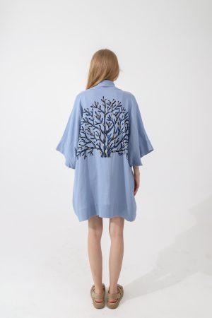 Look Project - Coral Effect Kimono İndigo