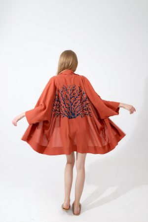 Look Project - Coral Effect Kimono Ginger