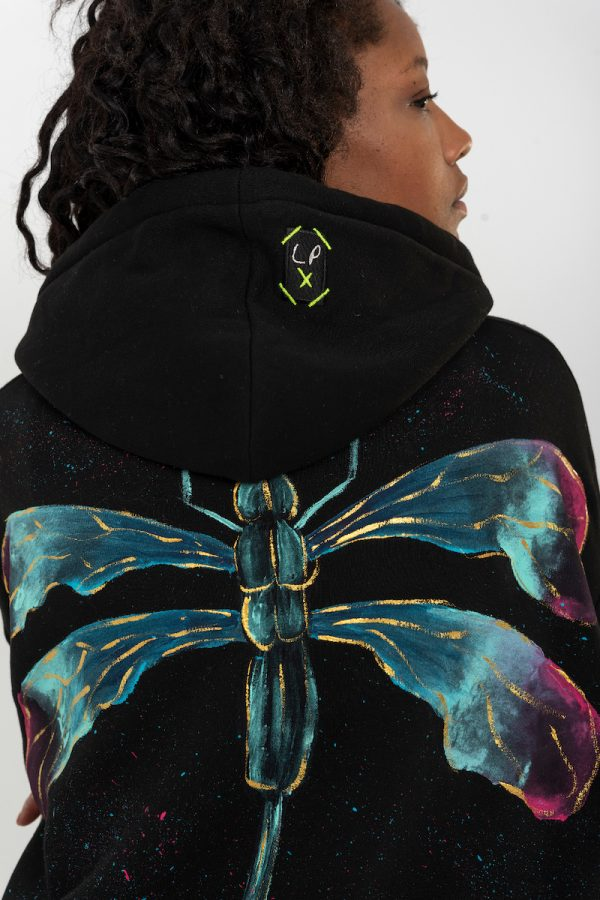 Look Project - Dragonfly - Hand Painted Hoodie