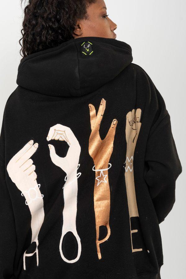 Look Project - Hope - Hand Painted Hoodie