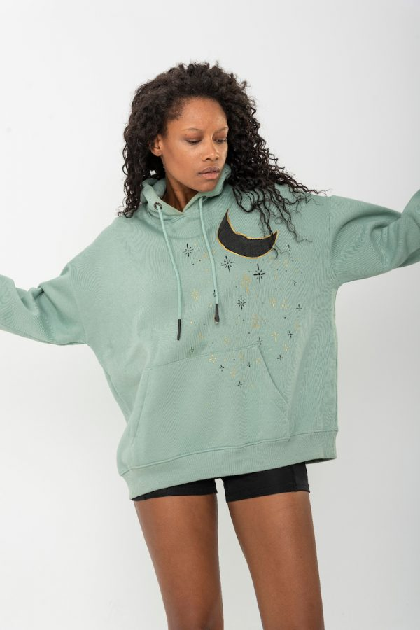 Look Project - Moon Light - Hand Painted Hoodie
